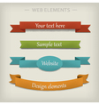 Colored ribbon elements for web vector image