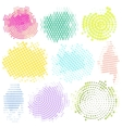 Abstract Halftone Backgrounds Set of vector image