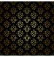 black decorative pattern with gold gradient vector image