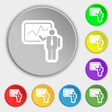 businessman making report icon sign Symbol on vector image