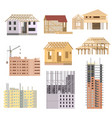 flat Building under construction Building vector image