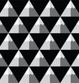 Geometric monochrome seamless mountain pattern vector image