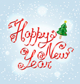 Happy New Year greetings lettering vector image