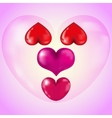 Set of Big Red Hearts vector image