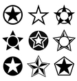 Shapes with five-pointed star vector image