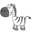 Smiling Zebra Cartoon Mascot Character vector image