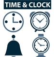 time clock signs vector image