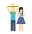 Parents and baby icon Avatar Family design vector image