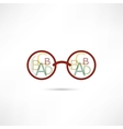 reading glasses icon vector image vector image