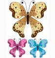 set decorative isolated butterflies vector image vector image