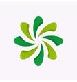 logo design element Spiral helix sheet vector image