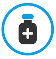 Medication Vial Rounded Icon vector image