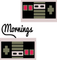 Mornings vector image
