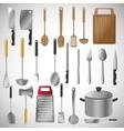 kitchen tools editable vector image