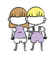 beauty girl and boy together with hairstyle vector image