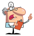 Doctor Holding A Clipboard And Hollering vector image