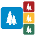 fir trees flat icon vector image