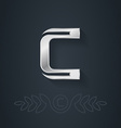 Letter C Template for company logo with monogram vector image