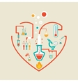 love chemistry vector image