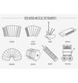 Musical instruments graphic template Reed wind vector image