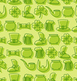 Patricks day seamless pattern Background for Irish vector image