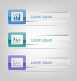 Set of banners infographic vector image