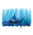 shark in the ocean vector image vector image