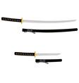 Tanto and katana sword vector image