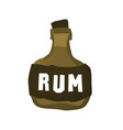 cartoon style grunge pirate rum bottle isolated vector image