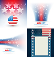 collection of american flag design vector image