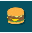 cute hand-drawn cartoon sandwich vector image