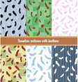 feathers patterns set vector image
