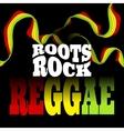 Roots Rock Reggae music design vector image