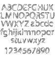 rough alphabet vector image