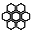 Little honeycomb icon simple style vector image