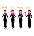 arab business woman character different poses vector image