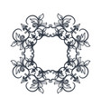 crest vintage decoration swirls emblem vector image