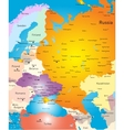 West europe map vector image vector image