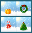 Christmas Greeting Card SET vector image vector image