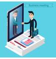 Business Meeting Isometric People vector image