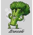 Funny cartoon broccoli vector image vector image