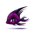 Cute fantasy black fish vector image