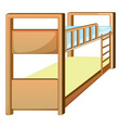 bunk bed vector image vector image