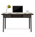 Desk with laptop vector image