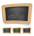 funny blackboard sign for ui game vector image