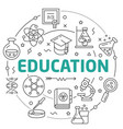 line flat circle education vector image