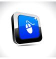 Mouse 3d square button vector image
