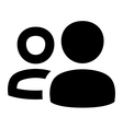 Multiple users icon vector image