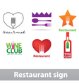 Restaurant sign vector image