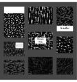 Set of universal card templates Modern design vector image